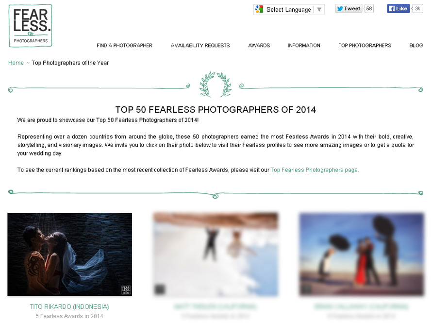 top 50 fearless photographers of 2014